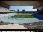 Inside the stadium.