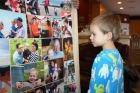 Kenyon also got a new blanket...with photos of everyone that he loves and that love him.