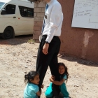 Little kids love him at home, why wouldn't they love him in Peru?