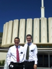 Elder Richman and Elder Brown at the Provo Temple this morning!