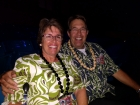 Steve and Marla take tickets to the buffet every Friday night. Don't they look cute in their Hawaiian attire?