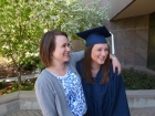 Trying to duplicate a pic from Tess\'s graduation...funny....