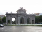 At the corner of the Retiro Park is the famous Puerta de Alcalá. It makes for a cool round-a-bout!