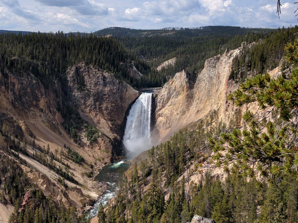 One of two beautiful waterfalls.