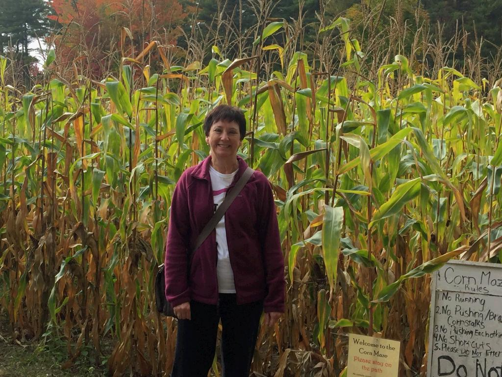 Did the corn maze while we were waiting for breakfast. It was my first one - never knew there were clues you had to answer to figure out how to get out. So many new things for me lately!