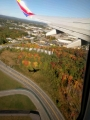 Next morning - on my way home. Can you see the shadow of my plane? Great trip!