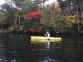 Kayaking in Lake Squam. My second time - look at me.