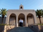 The Newport Beach Temple is beautiful. My favorite part was the mission-style doorways and doors.