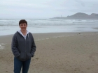 Yaquina Lighthouse in the background.