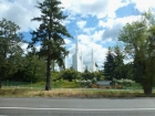 The amazing one-opportunity-driving-by-at-65-mph shot of the Portland Temple on our way to IKEA and the airport.