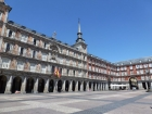 La Plaza Mayor is a great square with shops and restaurants surrounding it. We just watched the movie