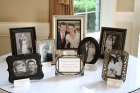 Tess had the idea of displaying wedding photos of  the parents and all the grandparents.