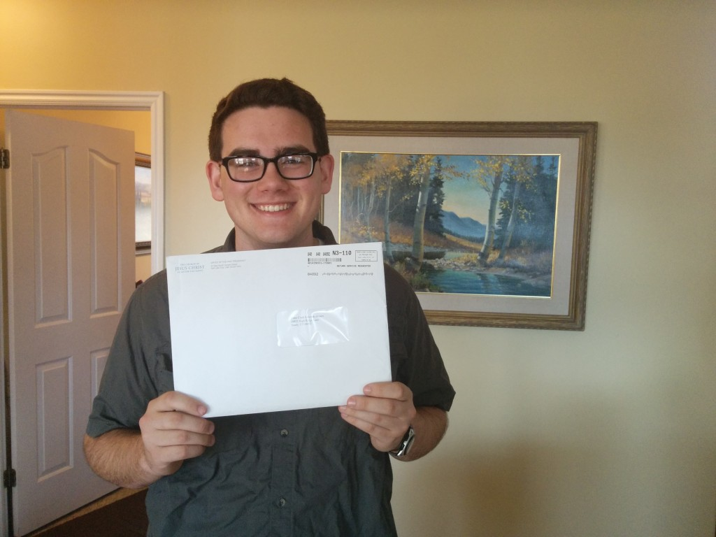 Mission call in the mail today!